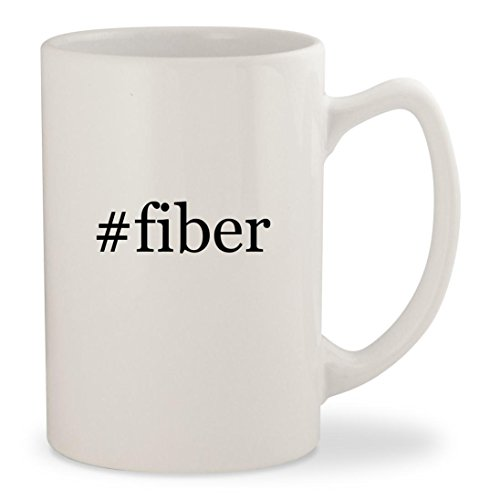 #fiber - White Hashtag 14oz Ceramic Statesman Coffee Mug Cup - 14 Fiber Optic Snowman