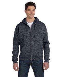 Champion Double Dry Action Fleece Full Zip Hood S800, L, Charcoal Heather ()