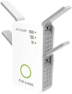 Amplificador Señal de WiFi 1200Mbps, Repetidor Wifi Extensor Enrutador Inalámbrico Punto Acceso con 4 Antenas Externas en Largo Alcance (4 Modos, 2,4G ...