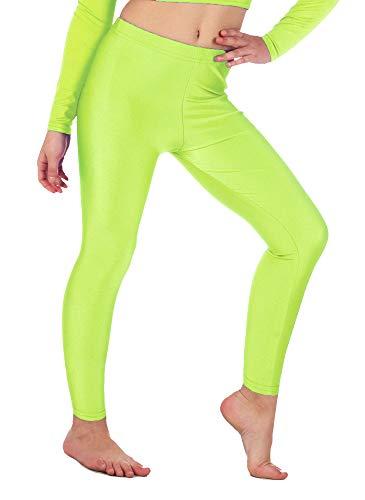Re Tech UK Girls Leggings - Gymnastic/Dance - Stretch - Neon Yellow - 13-14 Yrs