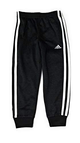 adidas Little Boys Fleece Athletic Training Sweatpants (3T, Black)