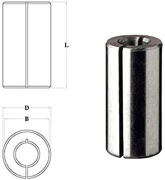 Adaptador de fresa para fresadora vertical 6 8 10 12 mm x madera - D 12.7/B 9.5/L 25 - Fresa fresadora: Amazon.es: Bricolaje y herramientas