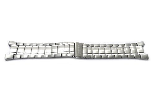 - Seiko Stainless Steel Push Button Fold-Over Clasp 24mm Coutura Kinetic Watch Bracelet