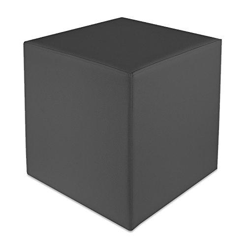 Sedile cubo Grigio scuro Dimensioni: 35 cm x 35 cm x 42 cm Kaikoon