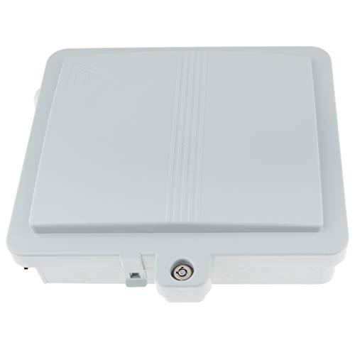 B Blesiya Indoor Outdoor Fiber Optic 12 Port SM LC Fiber Wall Mount Box Panel, Pigtails, Splice Trays