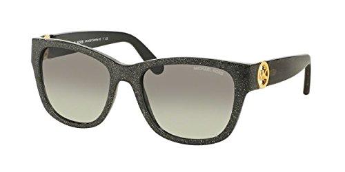 Michael Kors TABITHA IV MK6028 Sunglasses 309511-54 - Black Glitter Frame, Grey - Sunglasses Michael Kors Black