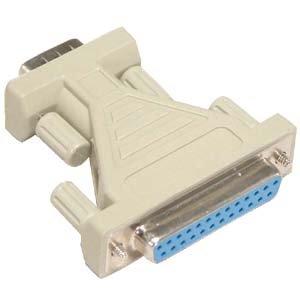 (GOWOS DB9-M/DB25-F Serial Adapter, Thumbscrew(DB25)/Thumbscrew(DB9))