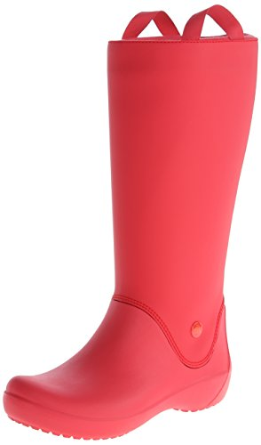 crocs Women's Rainfloe Rain Boot,Red/Red,8 M US