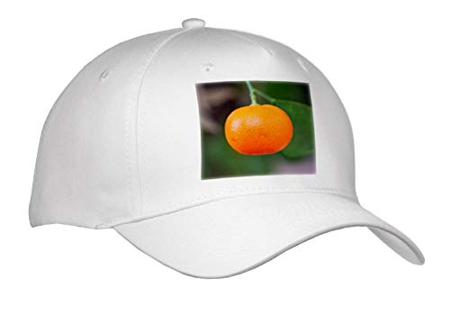 Alexis Photography - Food Tangerine - Photo of an Orange Tangerine Mandarin Fruit on a Tree - Caps - Adult Baseball Cap (Cap_294741_1)