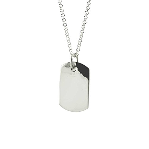 apop nyc Sterling Silver Rectangular Square Pendant Charm Necklace 16 inch - Rectangular Womens Necklace