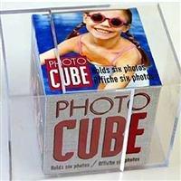 (Lucite desktop cube photo frame for 6 photos - 3.5x3.5)