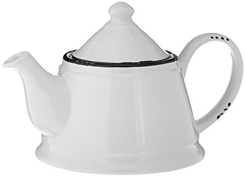 Abbott Collection (Abbott Collection Enamel Look Stoneware Teapot, White)