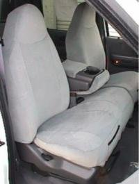 Durafit Seat Covers F249 X7 2000 2001 Ford F150 Regular And Xcab High Back 40 60 Split Bench Seat Covers In Gray Twill With Molded Headrests And Console With Opening 12 In Lid