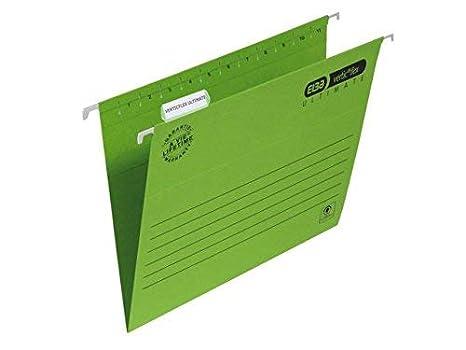 Elba Verticflex Ultimate Caja de cartón Verde archivador organizador - Organizador de almacenaje (Caja de