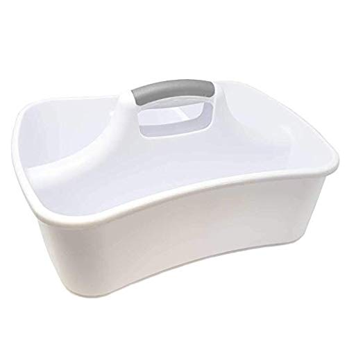 Bath Kitchen Divided Compartment Caddy Storage Sink Organizer Janitors Bucket Soap Cleaning Brush Sponge Bottle Holder Shower Basket Supplies Cabinet Container - 17 3/4'' L x 13 1/4'' W x 8 by LavoHome (Image #3)