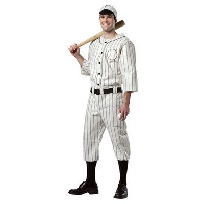 Old Baseball Player Costume (Old Tyme Baseball Player Adult Costume Size: Plus)