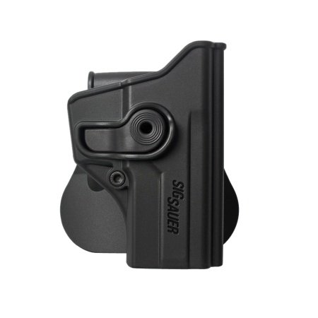 Black Polymer Retention Roto Gun Holster for Sig Sauer P250 C (Compact) (1110)