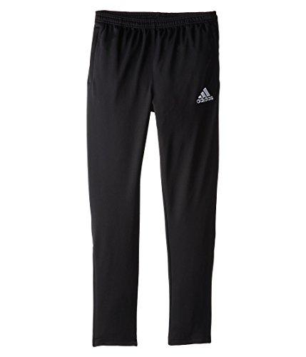 adidas Youth Soccer Core Pants, Black/White, Large