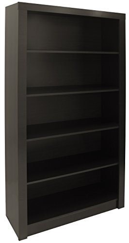 Manhattan Comfort Contemporary and Wide Olinda 1.0 Classic Open Free Standing Bookcase with 5 Shelves, - Open Shelf Wide