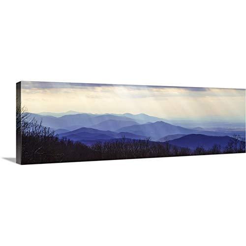 Furniture Ridge Blue (Alan Hausenflock Premium Thick-Wrap Canvas Wall Art Print entitled Blue Ridge Winter I 60
