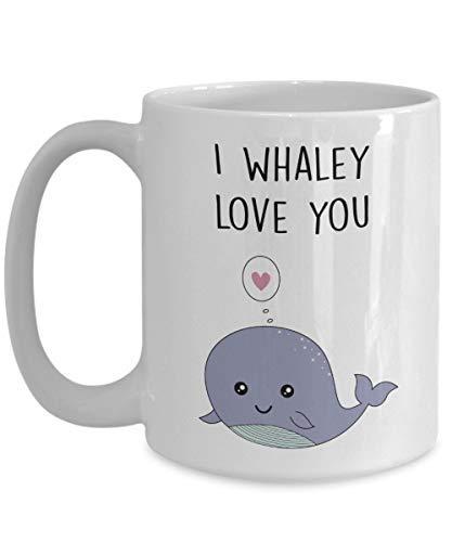 Timug Whale Pun Mug I Whaley Love You Funny Tea Hot Cocoa Coffee Cup Novelty Cup Gift ()