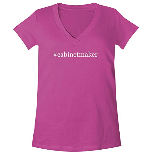 #Cabinetmaker - A Soft & Comfortable Women's V-Neck T-Shirt, Fuchsia, X-Large
