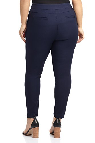 Rekucci Curvy Woman Ease In To Comfort Fit Modern Skinny Plus Size Pant w/Tummy Control (14W,Navy) by Rekucci (Image #2)
