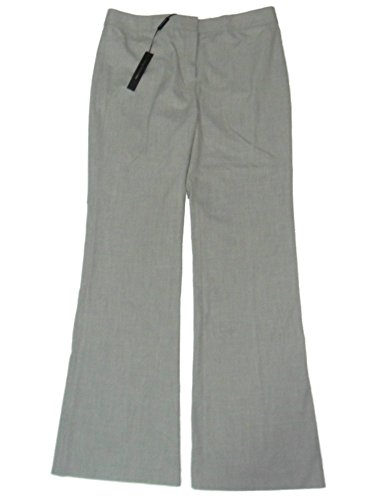 Elie Tahari Theora Dress Pants Wide Leg Flat Front 4 Light Grey