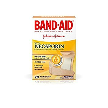 BAND-AID Plus Antibiotic Bandages Assorted Sizes 20 Each (Pack of 8)
