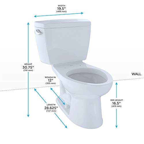 Drake 2-piece 1.6 GPF Elongated Toilet in Cotton by TOTO (Image #1)