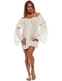 ec0ac89c716ac Amazon.com  Faire Lady Designs Women s Renaissance Pirate Blouse One Size  Burgundy  Clothing