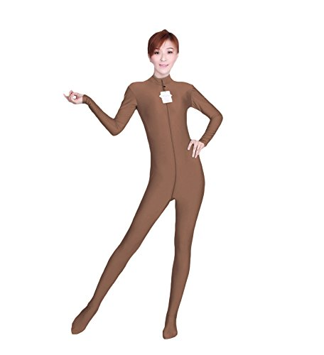 WOLF UNITARD Long Sleeve Bodysuit for Adult and Child Large Brown (Circus Dance Costumes)