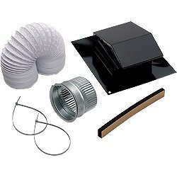 Cap Duct Aluminum Roof (Broan RVK1A Roof Vent Kit)
