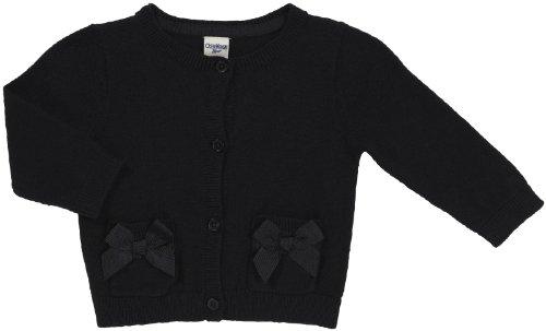 OshKosh B'Gosh Bow Detail Cardigan - Black-24M