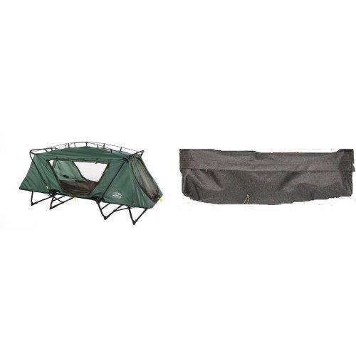 Kamp-Rite Oversize Tent Cot and Kamp-Rite Tent Cot Gear Storage Bag (Black) Bundle by Kamp-Rite