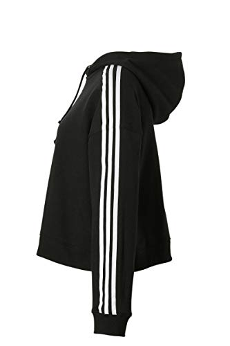 Noir Cropped adidas con cappuccio Femme Felpa Felpa nero nero fZBqwxx