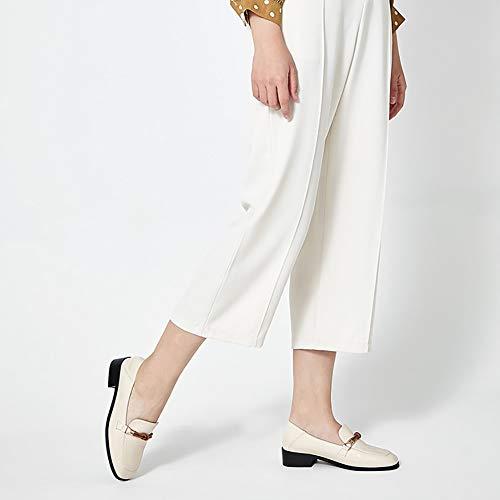 Donna Eleganti Donna Piatta Da Scarpa Bianca Tacco Scarpe In Sulle Basso Oxford Mocassini Con Mary Yxx Pelle Slittamento Jane CXqwgWpa