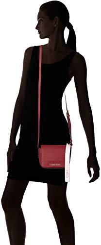 Women's Klein Cross Calvin Small Bag Red Rock Base Crossbody Jeans Red Ck Body E00wxdq