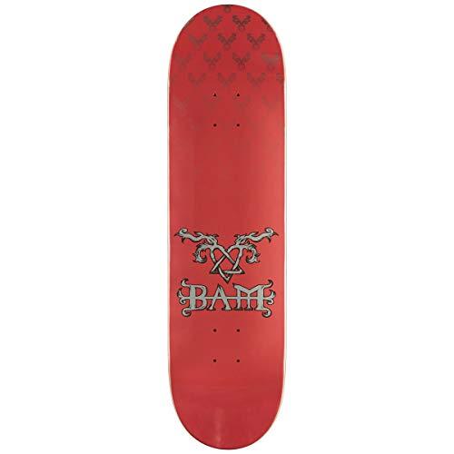 Skateboard Bam Margera Decks (Element Bam Heartagram Skateboard Deck - Pink - 8.25