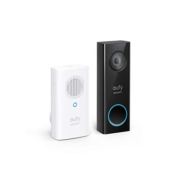 eufy Security, Wi-Fi Video Doorbell, HD 1080p-Grade, No Monthly Fee, Secure Local Storage, Human Detection, Free Chime… 1