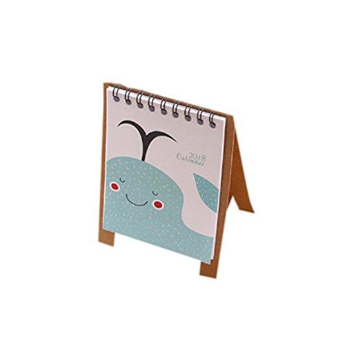 Cute Halloween Wallpaper Desktop (Euone 2018 Cute Cartoon Animal Desk Desktop Calendar Flip Stand Table Office Planner (B))