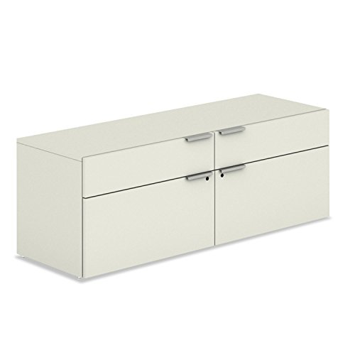Voi Low Credenza, 2 Box/2 File Drawers, 60w X 20d X 21-1/2h, Silver Mesh By: HON