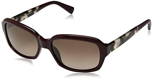 Cole Haan Women's Ch7004 Plastic Rectangular Sunglasses, Burgundy, 57 - Cole Sunglasses Womens Haan