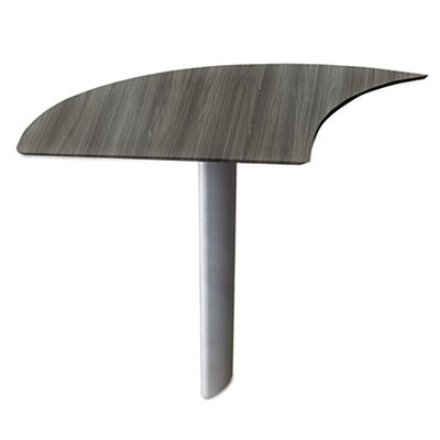 Medina Series Curved Desk Extension, Left-Hand, 47w x 24d x 29 1/2h, Gray Steel, Sold as 1 Each by Generic