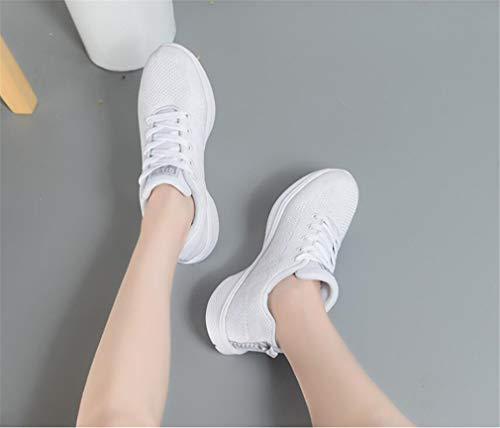 Schuhe Turnschuhe Frauen Runde Komfort Wanderschuhe Schuhe Pink weiß Plattform Flache Reise amp; Zehe EIN Sommer Schwarz Frühling Mesh Yrv7wqY
