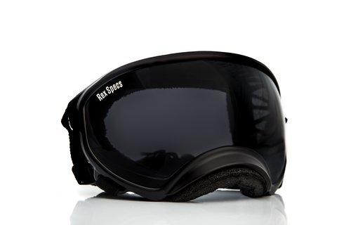 Rex Specs Dog Goggles Large Black Frame / Smoke Lens UV400 Protective Eye Wear - Canine Sunglasses