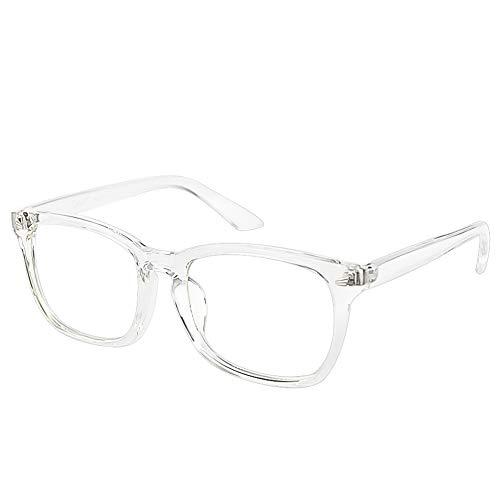 Cyxus Clear Lens Plain Glasses, Vintage Retro Fashion Eyewear for Men Women, Unisex Spectaclesn Eyeglasses Frame (crystal)