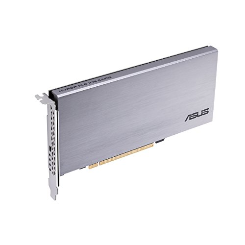 ASUS Hyper M.2 x16 Card Expansion NV Me M.2 drives and speed up to 128Gbps Components by Asus