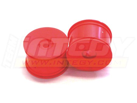 (Integy RC Model Hop-ups C22678ORANGE Dish Wheel 0-Offset (2) for 17mm Monster Truck & 1/8 Truggy)