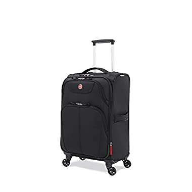 SwissGear Meyrin 20  Expandable Spinner Suitcase, Black